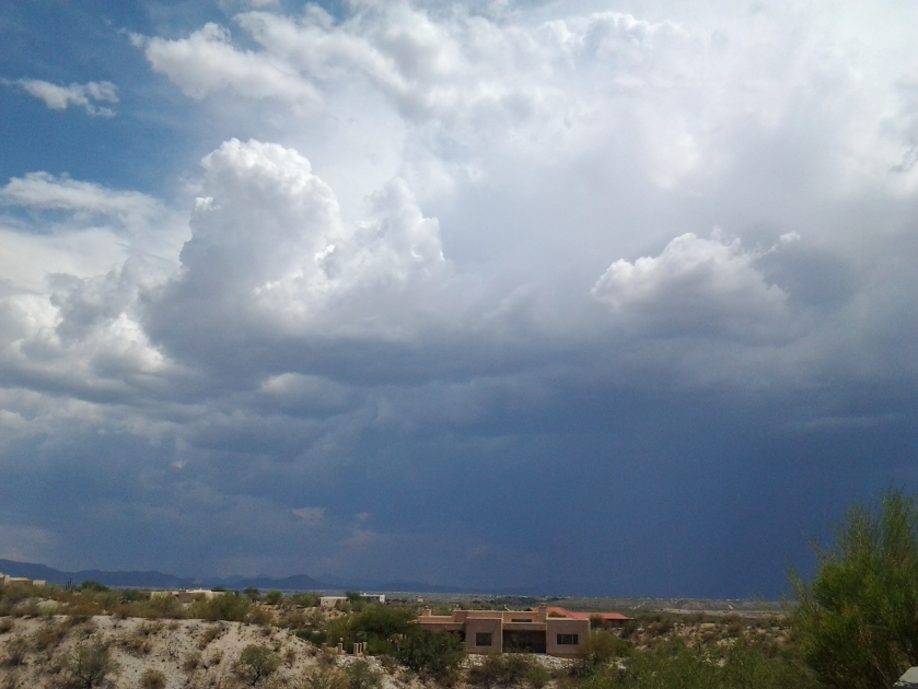 Monsoon weather Arizona storm clouds