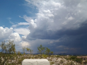 Cumulus Clouds, Thunderstorms in Tucson