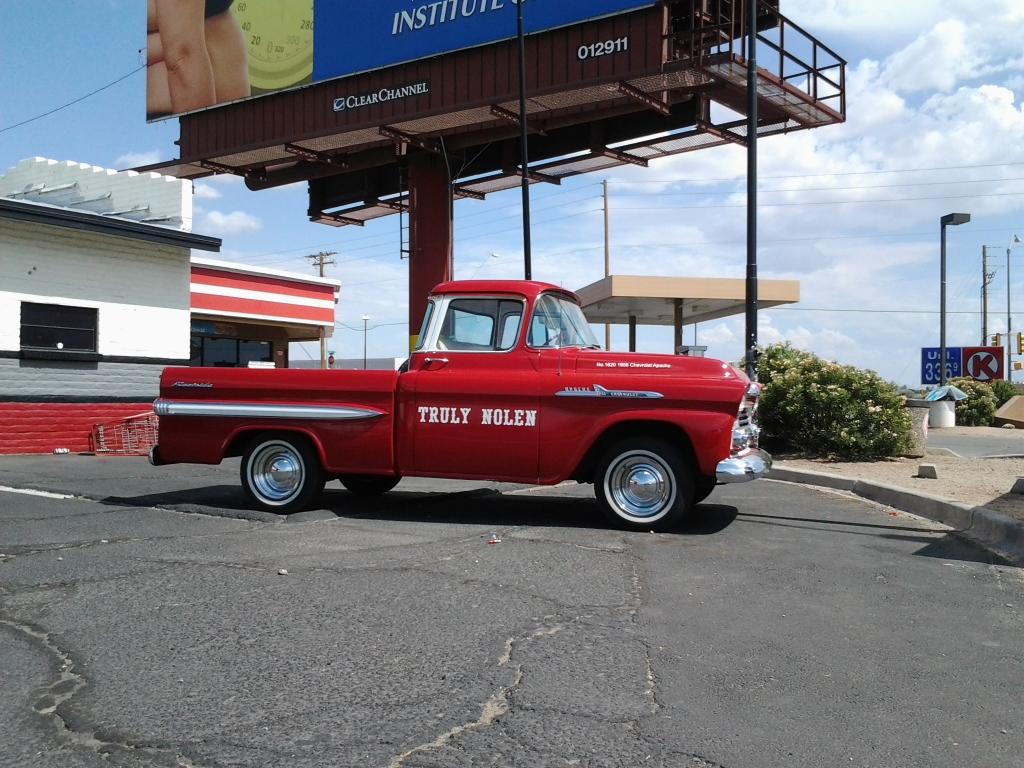 antique Truly Nolen Truck parked