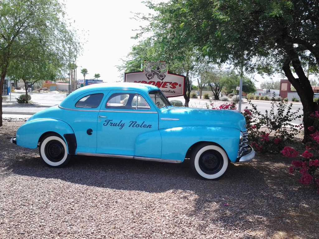 antique classic Truly Nolen car