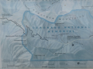 Coronado National Forest Map