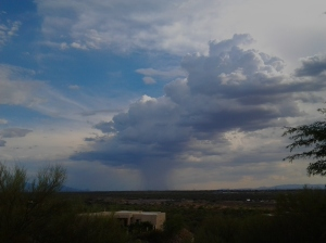 Microburst Monsoon cloud