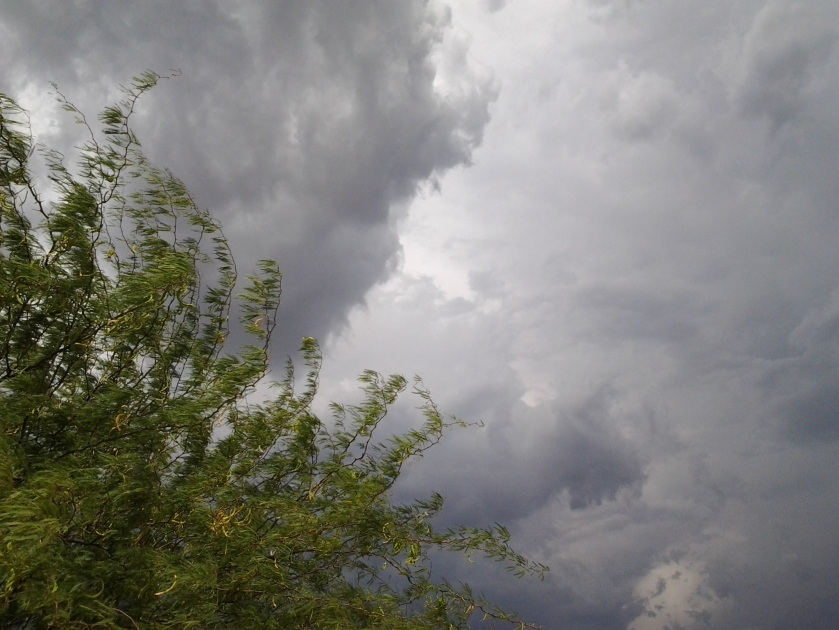 Arizona monsoon weather storm clouds