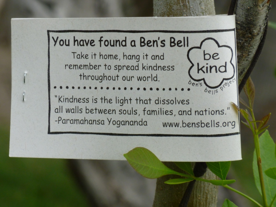 Ben's Bell note of kindness