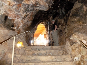 over 350 steps inside the cave