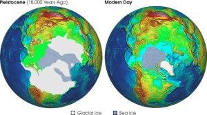Pleistoncene Ice Coverage on Earth