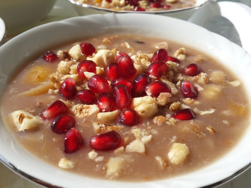 cereal with Pomegranates