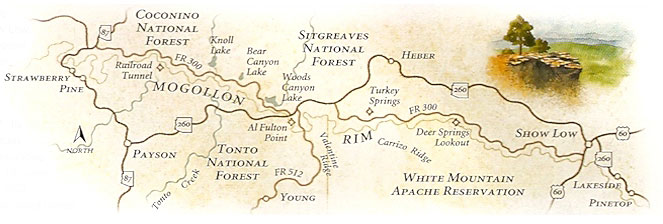 mogollon rim map chart trails